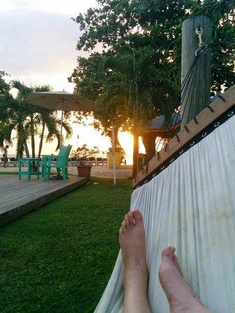 Grand Pineapple Beach Negril: sunset from hammock