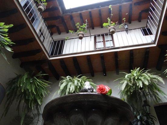 Meson del Alferez Xalapa: Esta es una vista desde el patio del restaurante. Muy buena cocina