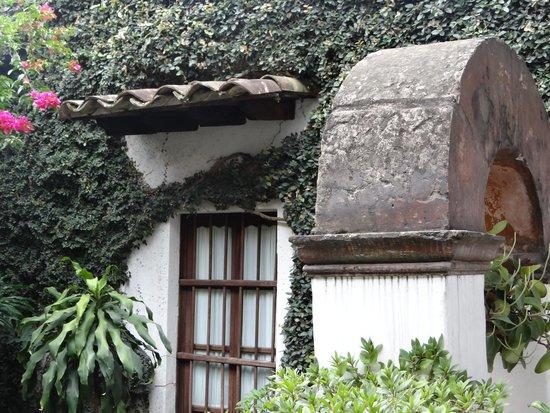 Meson del Alferez Xalapa: Una parte del patio
