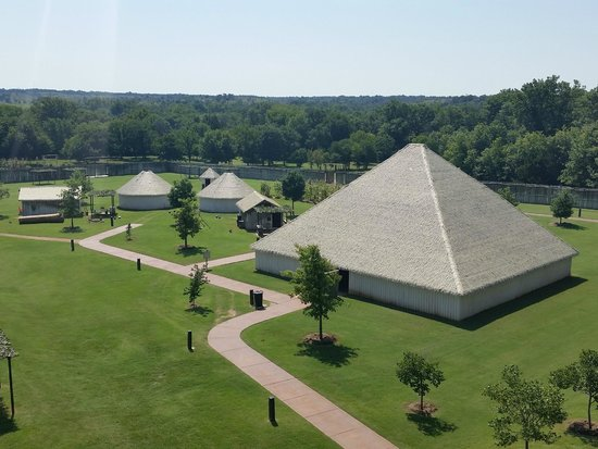 Chickasaw Cultural Center: An aerial view of the village