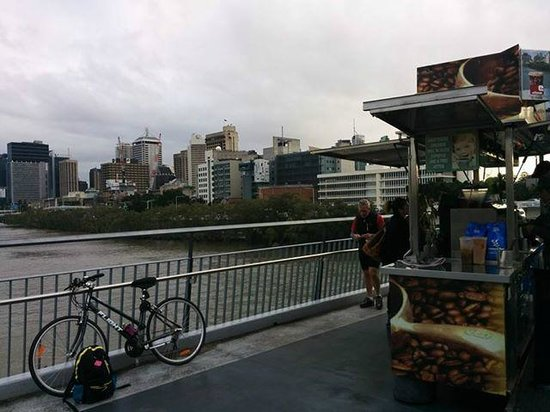 Brendan's Cafe on the Goodwill Bridge: View from seat at Cafe