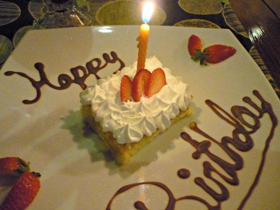 My Complimentary Birthday Cake Picture Of Santa Barbara Hosteria - Birthday cake barbara