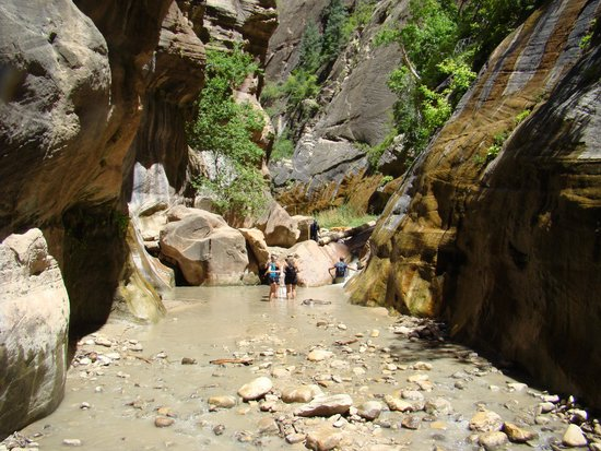 The Narrows: The third waterfall in Oderville Canyon we could not figure out how to get up