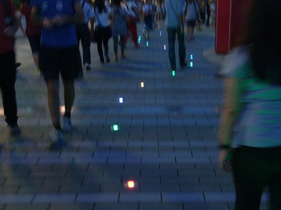 Avenue of the Stars: Lights on the floor