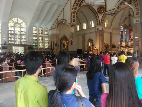 Quiapo Church from inside during the Saturday mass