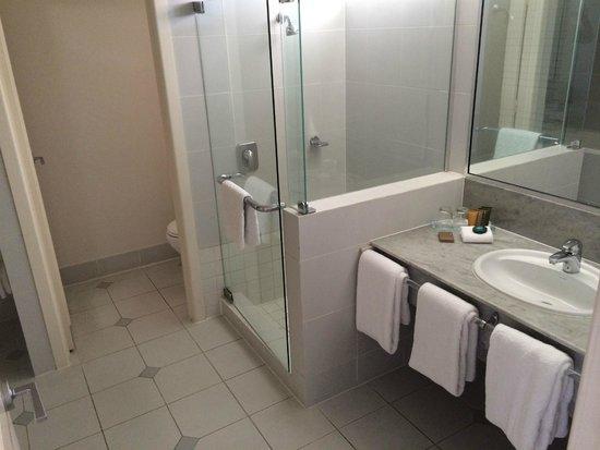 Reef View Hotel: LARGE bathroom & separate loo