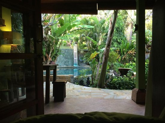 Green Chaka Villas: View from our bed at Paradise villa