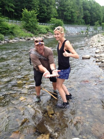Wilderness Trails and the Vermont Fishing School: Jess's first catch
