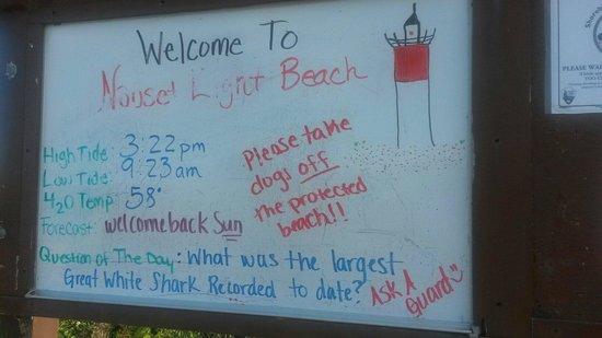 Nauset Light Beach: Lavagna di benvenuto