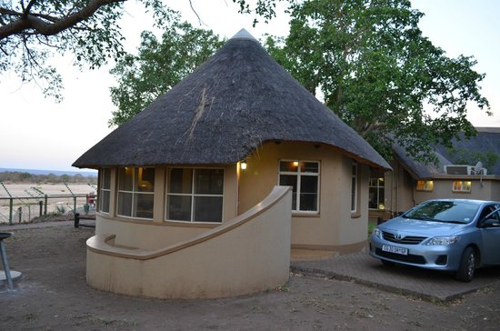 Letaba Rest Camp: Rondavel from Outside + Parking space for your car