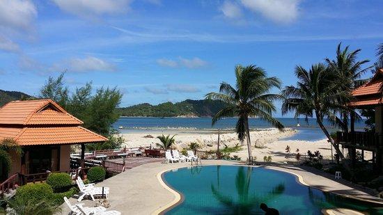 Buritara Resort & Spa at Koh Phangan: view from breakfast