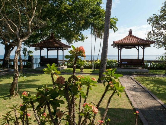 Aditya Beach Resort: View from our front door