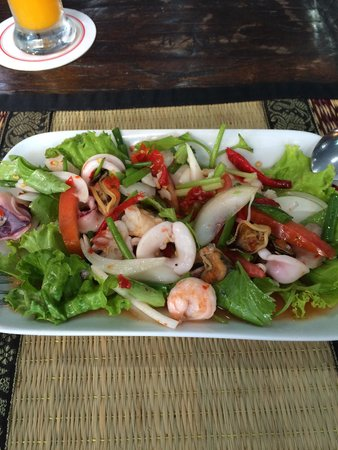 The Haven Hotel & Restaurant: A wonderful spicy seafood salad