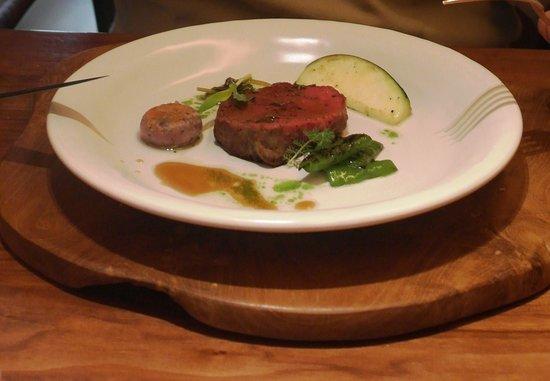 Fujiya 1935: Dry Aged Akaushi Beef, Eggplant, Oseille