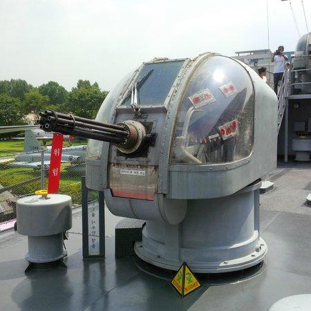 Monumento de Guerra de Corea: Boat gatling canon