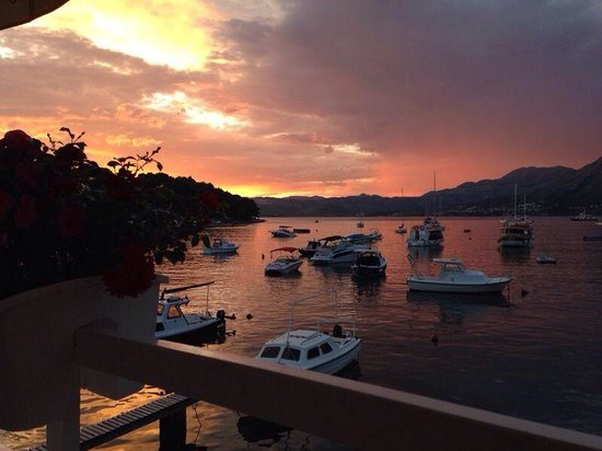 Villa Ivy : On of the beautiful sunsets cavtat gave us