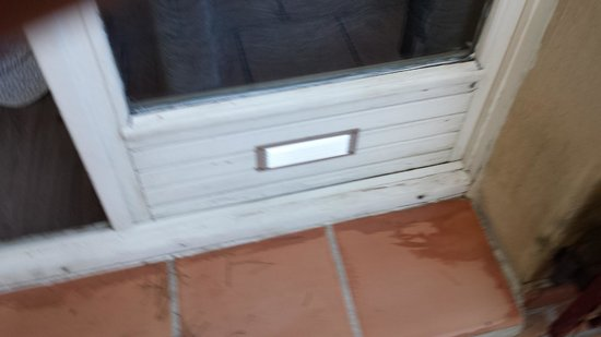 Le Mas des Ecureuils Hotel: Porte fenêtre chambre 22