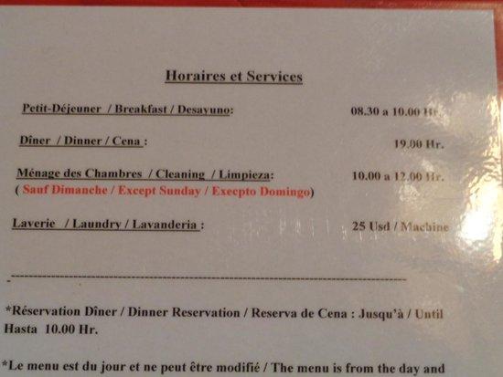 Chez Jerome: tarifs