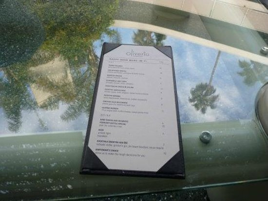 Avalon Hotel Beverly Hills: Poolside Menu