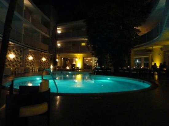 Avalon Hotel Beverly Hills: Pool by night