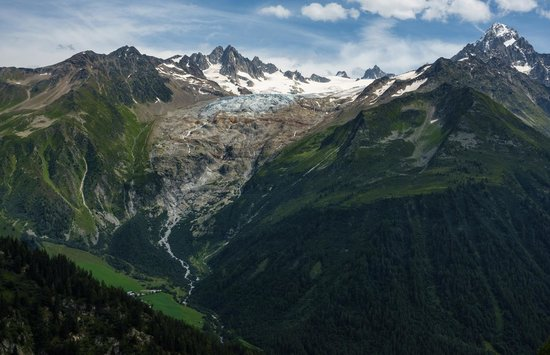 View from Aiguilles Rouges towards Glacier du Tour