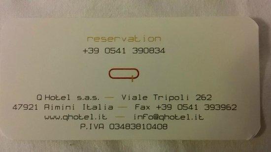 Q Hotel: Numeri Utili