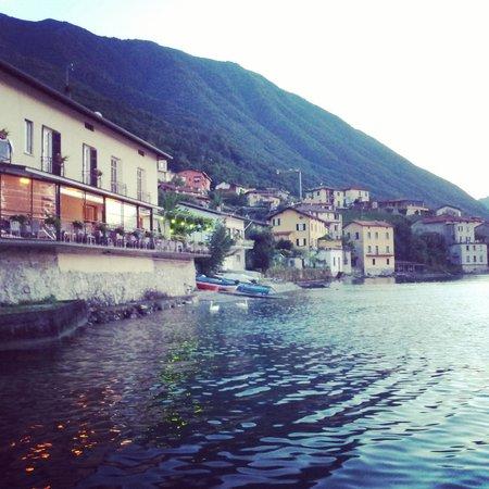 Crotto dei Pescatori: the restaurant and view of hotel