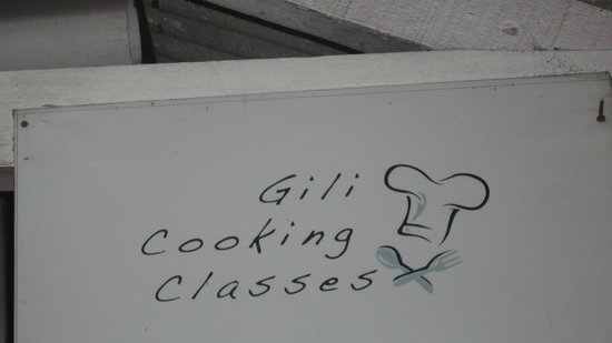 Gili Cooking Classes : The sign