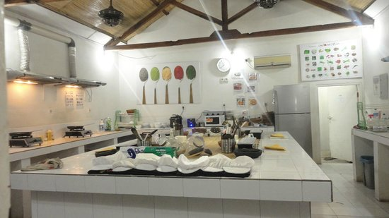 Gili Cooking Classes : The kitchen ready for class