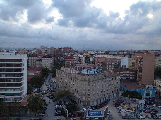 Expo Hotel Valencia: Vista dalla finestra