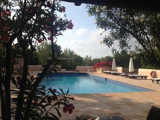 Hotel Rural Can Pujolet : Colazione bordo piscina