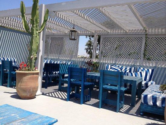 Hôtel Vent des Dunes : La terrasse
