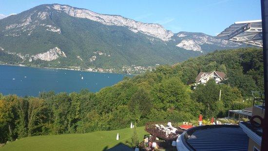 Les Tresoms, Lake and Spa Resort : Vue de notre chambre