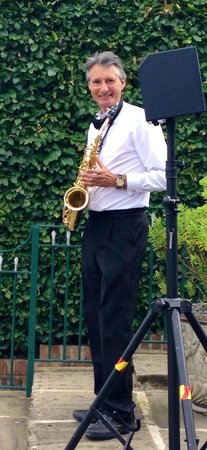 Saxophonist Serenading at a Weston Hall Wedding
