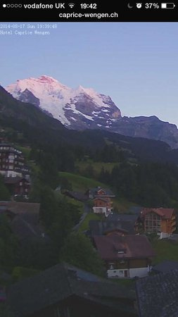 Hotel Caprice: Our evening view of Jungfrau