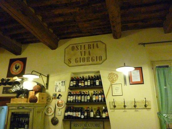 Osteria San Giorgio: interni