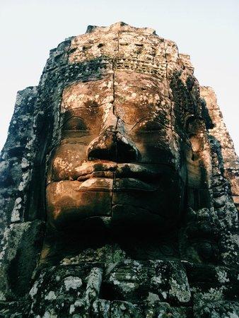 Bayon (Angkor) : stone faces