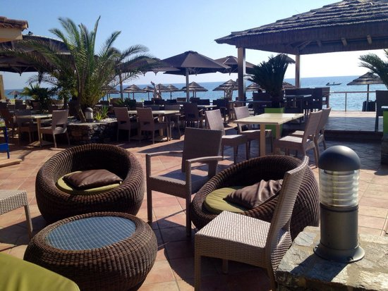 La Vallicella : Terrasse restaurant plage