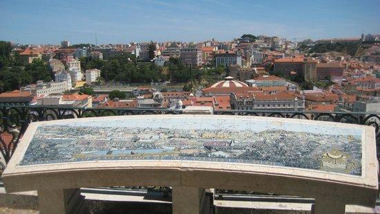 Miradouro Sao Pedro de Alcantara: The diagram shows you what you're looking at.