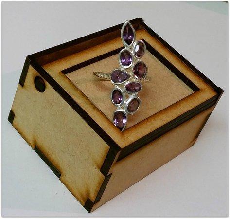 Coeval: Amethyst 9-Stone Ring