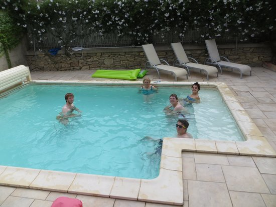 Pepieux, France: the pool