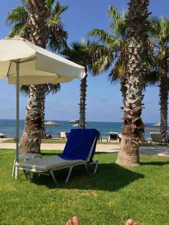 Louis Ledra Beach: Sea view from pool area