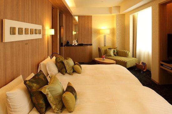 Hotel Nikko Kanazawa : Luxe deluxe hollywood twin bed