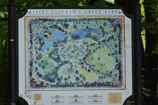 St. Stephen's Green: Plan du Parc