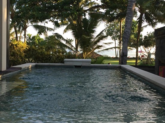 The Royal Beach Seminyak Bali - MGallery Collection: View from the pool of a seafront villa