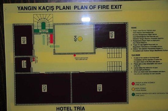 Tria Hotel Istanbul: layout piano