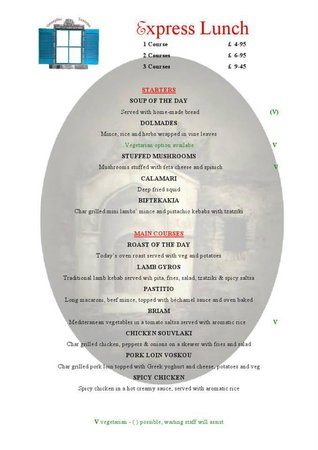 Bellshill, UK: lunch menu
