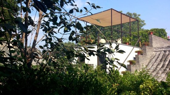 The Orchid Hotel: 北京の朝食@2階テラス席から