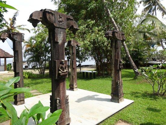 Purity at Lake Vembanad: Traditional Kerala pillars