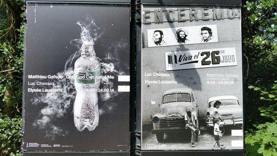 Musée de l'Elysée: Posters of the current exhibitions (August 2014).